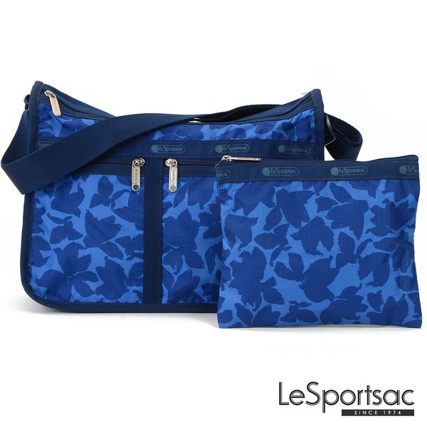LeSportsac - Standard 雙口袋A4大書包-附化妝包 (藍色花瓣) 7507P F976