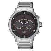 CITIZEN 銀白鈦金屬光動能男腕錶-CA4400-88E