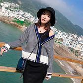 原宿毛衣外套女短款寬鬆春秋針織衫學生韓版開衫   蜜拉貝爾