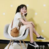 零錢包 斜背包女韓版學生卡通少女手機零錢包可愛百搭帆布小包包 蓓娜衣都