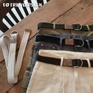 工裝褲學生復古褲帶ins潮青少年男士韓版皮帶男女帆布雙環扣腰帶