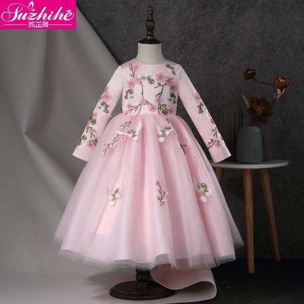 洋裝 連身裙  女童連衣裙2018秋裝新款冬裝洋氣兒童裝裙子公主裙秋冬女寶寶女孩 女童裝2-8歲