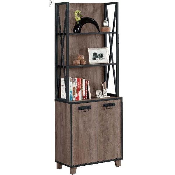 展示櫃 客廳櫃 高低櫃 MK-357-2 哈麥德2尺書櫥【大眾家居舘】