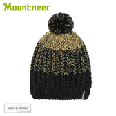 【Mountneer 山林 保暖針織毛線帽《黑》】12H61/休閒帽/毛帽/保暖帽