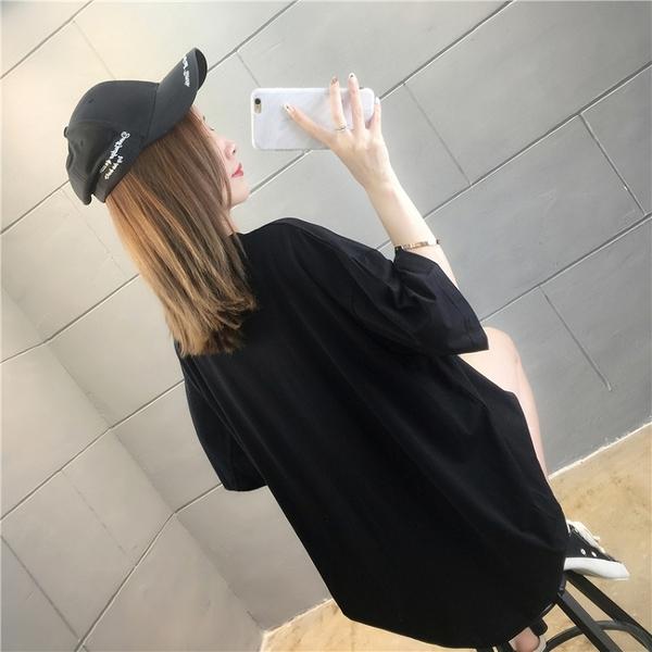 【YOUNGBABY中大碼】閃閃網狀小熊EXCELLENT棉T.黑