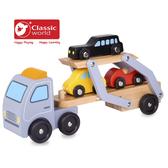 【德國 classic world 客來喜】經典木玩-大車載小車 CL3591