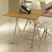 簡易可攜式正方形折疊桌矮小戶型家用4人小餐桌可折疊吃飯小桌子·樂享生活館liv