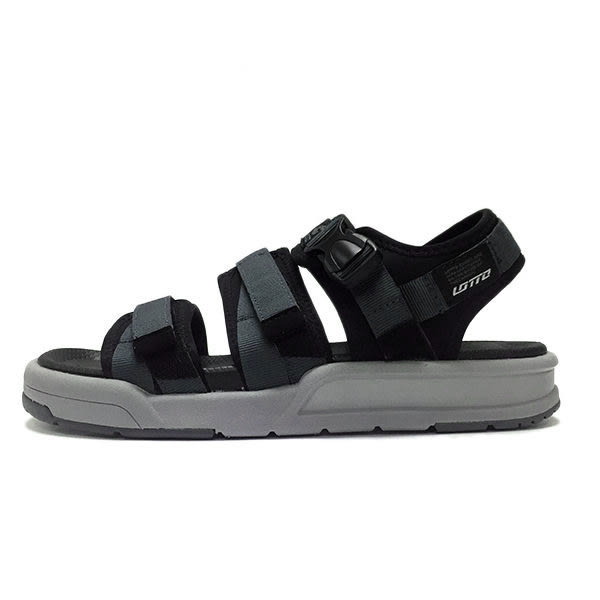 Lotto 樂得 黑 灰 經典織帶水陸涼鞋 男女款 可調式 輕量 防水 涼拖鞋 airwalk 台灣製 LT7AMS5260