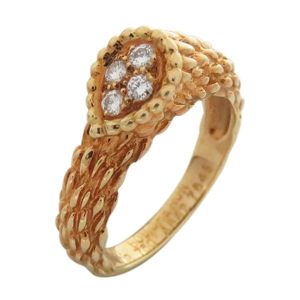 BOUCHERON Serpent Boheme系列18黃K金鑲鑽戒指 Ring【二手名牌BRAND OFF】