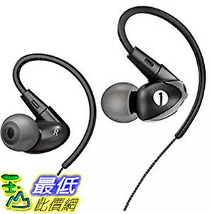 [106 美國直購] 1byone Noise Isolating Wired In-ear Sports Earphones , Dark Grey