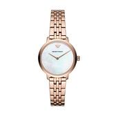 【Emporio Armani】義式格紋波狀簡約時尚腕錶-貝殼金/AR11158/台灣總代理公司貨享兩年保固