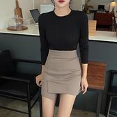 高腰半身裙女2020新款韓版修身緊身包臀裙不規則彈力一步裙職業裙 【ifashion·全店免運】