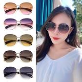 歐美多邊形漸層墨鏡 金屬框復古太陽眼鏡 網紅眼鏡 抗紫外線UV 檢驗合格