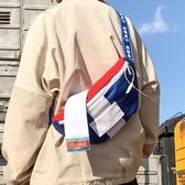 特賣側背包嘻哈小背包潮牌胸包男女帆布ins學生側背斜背包街頭潮流多用腰包