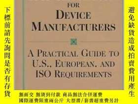 二手書博民逛書店Quality罕見Systems and GMP Regulations for Device Manufactu