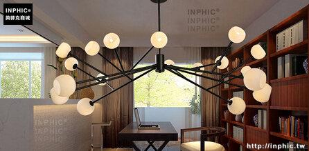 INPHIC- 北歐簡約客廳服裝店創意個性dna分子多頭玻璃球魔豆吊燈-B款_S197C