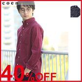 出清 圓點襯衫 印花上衣 燈芯絨襯衫 現貨 免運費 日本品牌【coen】
