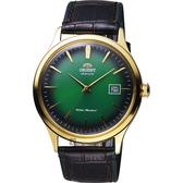 ORIENT 東方錶 DATE Ⅱ 紳士機械錶-綠x金框/42mm FAC08002F