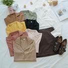 洋芋妹-舒適親膚基本款素面開衫長袖襯衫 8色【SB12759】