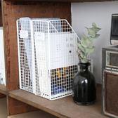檔案夾復古鐵藝桌面收納架文件書本收納盒創意書架辦公室置物架免運