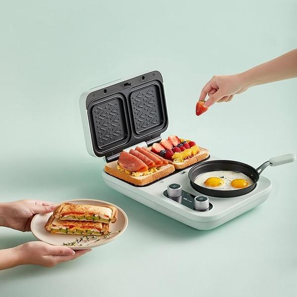三明治機輕食早餐機家用小型多功能四合一加熱吐司壓烤麵包機【快速出貨】