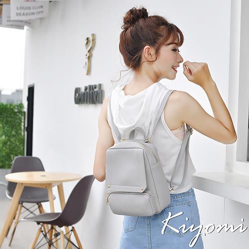 KIYOMI韓系校園時尚後背包(多色)灰色KB064-GR