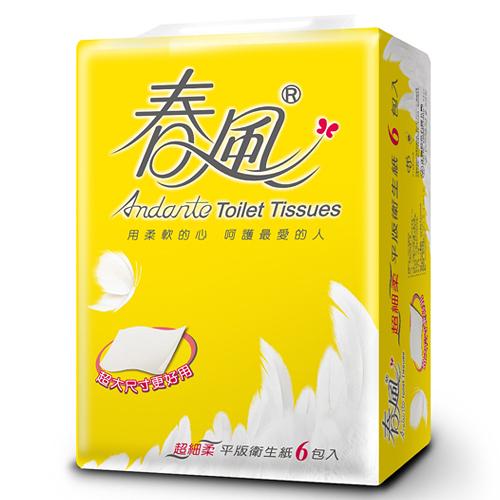 春風平版衛生紙300張*6包【愛買】