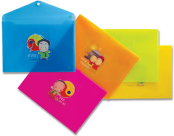 特價1個10元韓國娃娃橫式文件袋((A4)環保無毒材質. CKB230 HFPWP