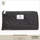 Kinloch Anderson 金安德森 皮夾 英國女爵  黑色 菱格壓紋長夾 女用長夾  KA156103 MyBag得意時袋