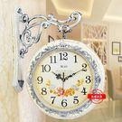 歐式雙面掛鐘客廳鐘錶掛錶靜音時鐘jy創意現代兩面石英雙面鐘錶 滿598元立享89折