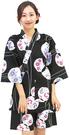 Nishiki【日本代購】和式清涼居家服 睡衣 上下套裝 棉100%-漆黒地丸輪