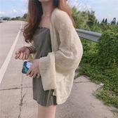 春裝2018新款女慵懶隨意百搭寬鬆顯瘦防曬開衫氣質薄款毛衣外套女禮物限時八九折