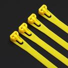 【D250】可調式束線帶彩色10入8x250mm 理線袋 紮線袋 電線束帶 可重複使用 EZGO商城