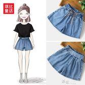 夏季女童牛仔短褲中大童韓國時尚薄款短褲兒童寬鬆短褲子 道禾生活館