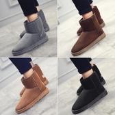 雪地靴男冬季保暖加絨男士棉鞋正韓潮流面包男鞋子短靴棉靴男靴子