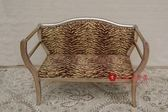 [紅蘋果傢俱] ML5006 新古典 小貴妃椅 小沙發椅 休閒椅 穿鞋凳 造型椅 洽談椅  金箔 銀箔