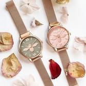 女士手錶 新款英倫風小蜜蜂手錶女ins風森系學生文藝氣質簡約防水網紅同款 4色