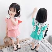 女童夏裝新款洋氣短袖套裝韓版時尚1歲兩歲三歲女寶寶夏裝(聖誕新品)