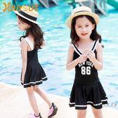 (中秋大放價)兒童泳衣 兒童泳衣女孩大中小童公主泳裝 連體裙式寶寶韓國溫泉游泳衣