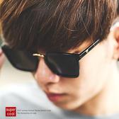 墨鏡 造型金屬全黑方框墨鏡太陽眼鏡【NB0202J】