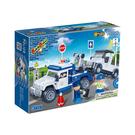 警察系列 NO.8345警察拖車隊 迴力車【BanBao邦寶積木楚崴】
