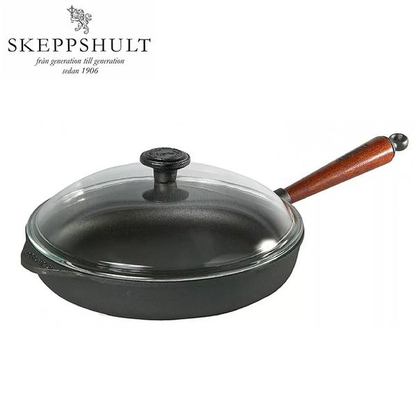 【瑞典鑄鐵鍋】3C LiFe 瑞典 SKEPPSHULT-0120T 鑄鐵炒鍋山毛櫸木柄 25公分
