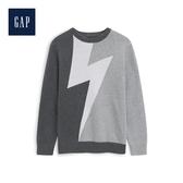 Gap男童圓領長袖套頭針織衫527359-炭灰色
