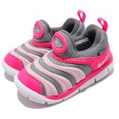 Nike 毛毛蟲鞋 Dynamo Free TD 粉紅 灰 嬰兒鞋 幼兒鞋 小童鞋 童鞋【PUMP306】 343938-019