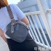時尚休閒韓版男女通用胸包簡約貝殼包防水布包側背包包 雙12全館免運
