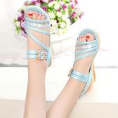 韓版涼鞋 新款學生鞋 公主鞋 軟底防滑涼鞋潮牛筋底平底少女防滑沙灘鞋子