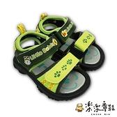【樂樂童鞋】台灣製巴布豆軟底涼鞋-綠色 C095-1 - 男童鞋 兒童涼鞋 涼鞋 台灣製 現貨 巴布豆 MIT
