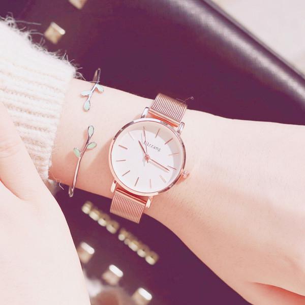 流行女錶 ins風手錶女款學生機械表韓版簡約防水時尚原宿 店慶降價