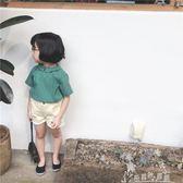 奶油cream 夏裝童裝新款女童條紋襯衫兒童寶寶打底短袖上衣潮奇思妙想屋