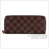LV N60534 經典Damier 棋盤格紋拉鍊長夾(紅)